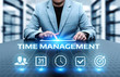 time management project efficiency strategy goals business technology internet concept