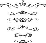 手書きの飾り線のセット - 201694223