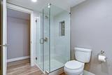 Elegant bathroom with hardwood floor. - 201700051