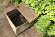 Ready made compost pile in wooden crate - 201703676