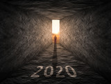 The way forward to 2020 as thinking outside of box concept