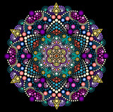 Dot painting meets mandala 2 18. Aboriginal style of dot painting and power of mandala