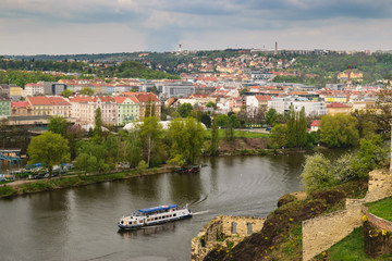 Vltava River from Vyshehrad Castle