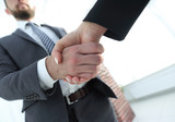 Business executives to congratulate the joint business agreement - 201744601