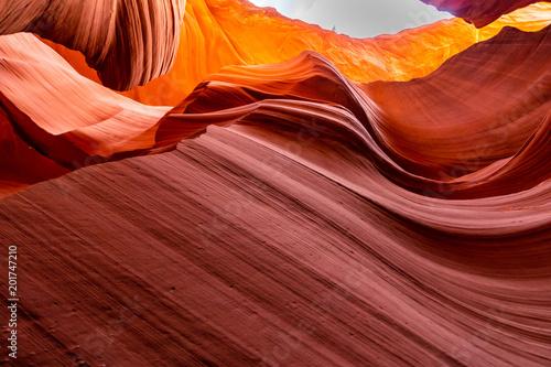 Plexiglas Rood paars Lower Antelope Canyon