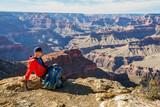 A hiker in the Grand Canyon National Park, South Rim, Arizona, USA - 201755031
