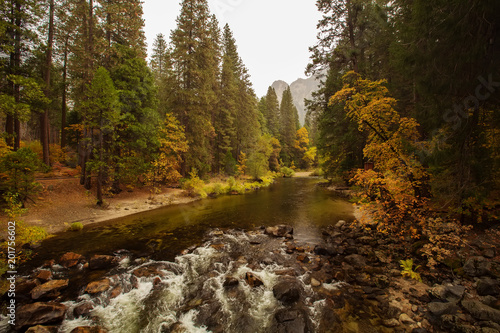 Spectacular views of the Yosemite National Park in autumn, California, USA