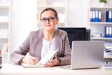 Businesswoman employee working in the office - 201766613