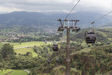 cable car in the mountains of Cantabria, Spain - 201786829
