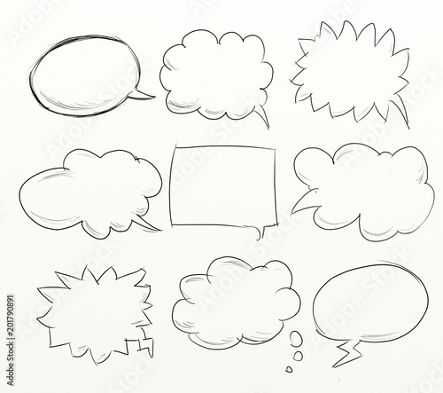 comics clouds to write your message