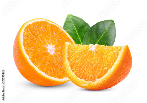 orange isolated on white background - 201795443