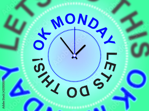 Monday Morning Quotes - Let's Do This - 3d Illustration