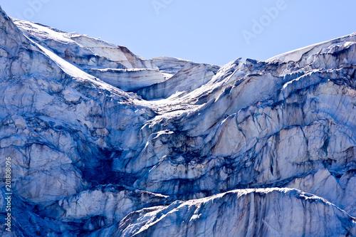 Closeup of the Angel glacier in Jasper National Park, Alberta, Canada - 201808096