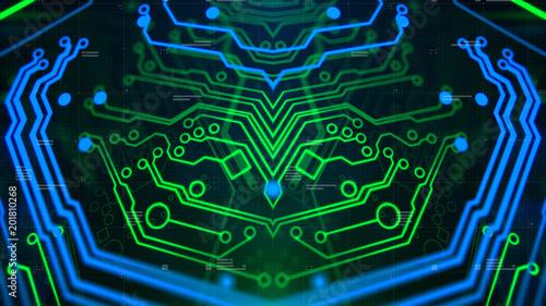 Digital Technology Concept Background  3d Illustration  Wallpaper