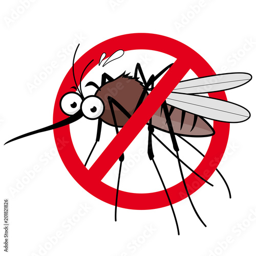 Cartoon mosquito repellent sign.  - 201821826