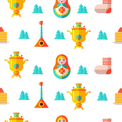 Seamless pattern. Russian souvenir. Vector illustration. © katedemian