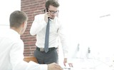 confident businessman solves work problems - 201824668