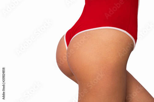 sexual round ass in red body lingerie - 201824858
