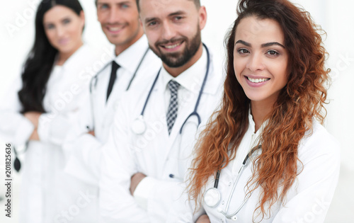 Foto Murales medical team on white background