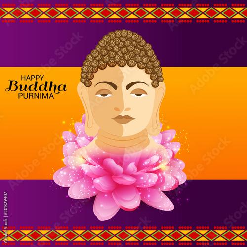 Plexiglas Boeddha Happy Buddha Purnima.