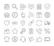 Online shopping icons set.