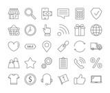 Online shopping icons set. - 201829854