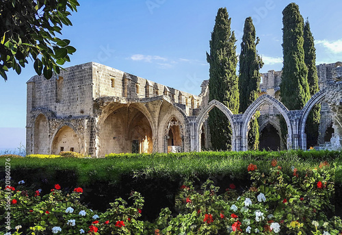 monastery in bellapais, a small village in northern cyprus - 201860276