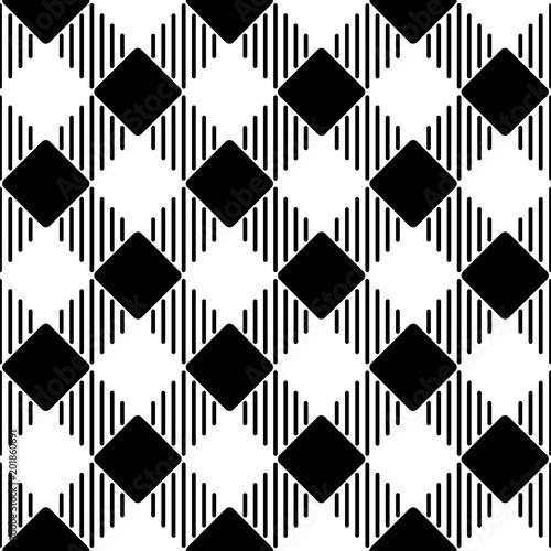 Czarno-biały wzór retro inspirowane geometryczny wzór.