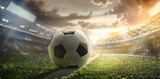 Sport. Soccer ball on stadium. Football poster. - 201863278