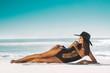 Fashion woman relax at beach