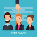 group of people human resources vector illustration design - 201869436
