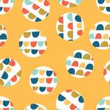 Seamless pattern, polka dot fabric, wallpaper, vector.