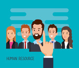 group of people human resources vector illustration design - 201869667