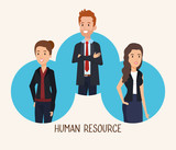 group of people human resources vector illustration design - 201869800