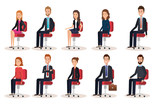group of people human resources vector illustration design - 201873607