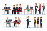 group of people human resources vector illustration design - 201873649
