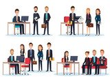 group of people human resources vector illustration design - 201873671