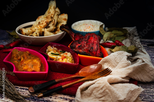 Foto Murales Handmade tandoori Grill Indian food