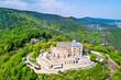 Hambacher Schloss or Hambach Castle, aerial view. Rhineland-Palatinate, Germany.