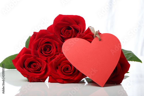 Wall mural Valentine's Day concept theme with red roses