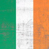 scratched Ireland flag
