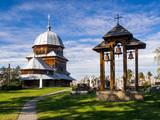 Antique wooden church in Ukraine - 201889836