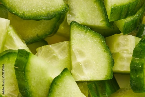 Cucumber cut to pieces