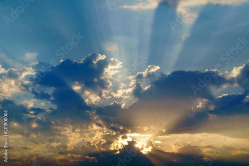 Aluminium Zonsopgang sunrise sky background