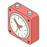 Small alarm clock icon. Isometric illustration of small alarm clock vector icon for web - 201901421