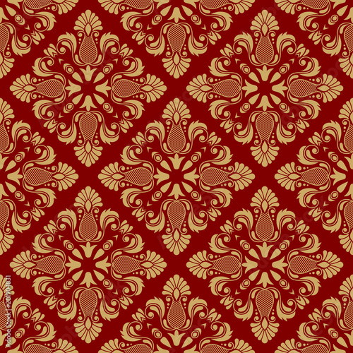 Vintage damask seamless pattern. Classical luxury texture for wallpapers, wrapping, textile. Vector Illustration