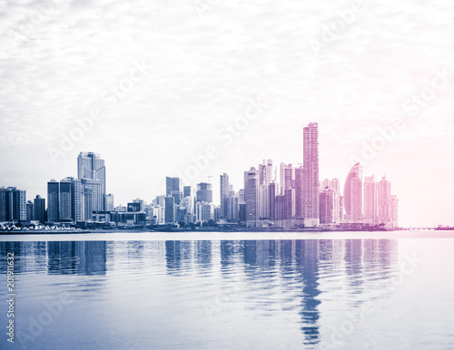 city skyline, skyscraper buildings, modern cityscape