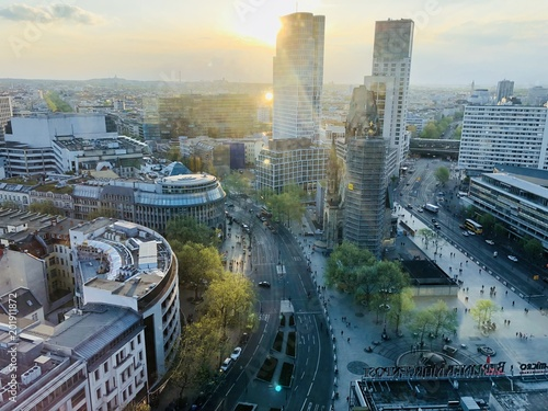 Leinwanddruck Bild Panorama Berlin City West
