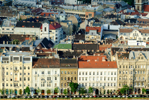 Foto Murales Budapest downtown close building, Pest side