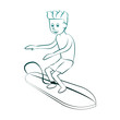 Surf Water sport cartoon vector illustration graphic design